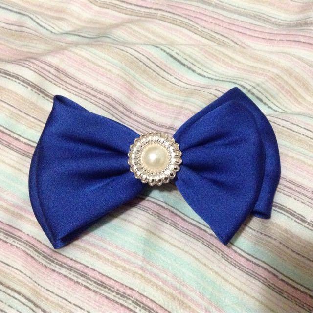 東京購回 [全新] 寶藍珍珠髮夾