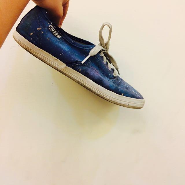 二手 星空平底鞋