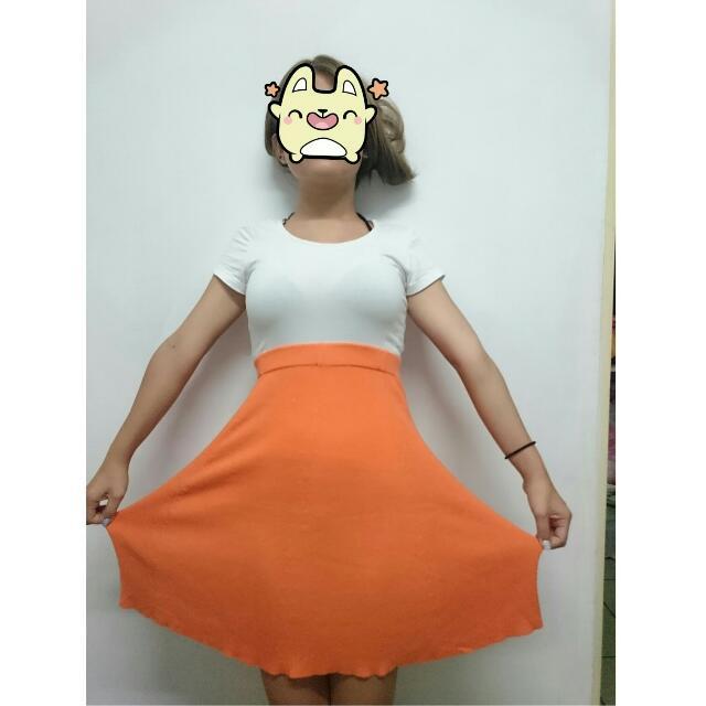 橘色 裙子 二手