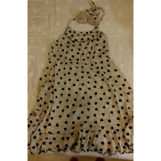 👗全新 H2O絨布印花洋裝