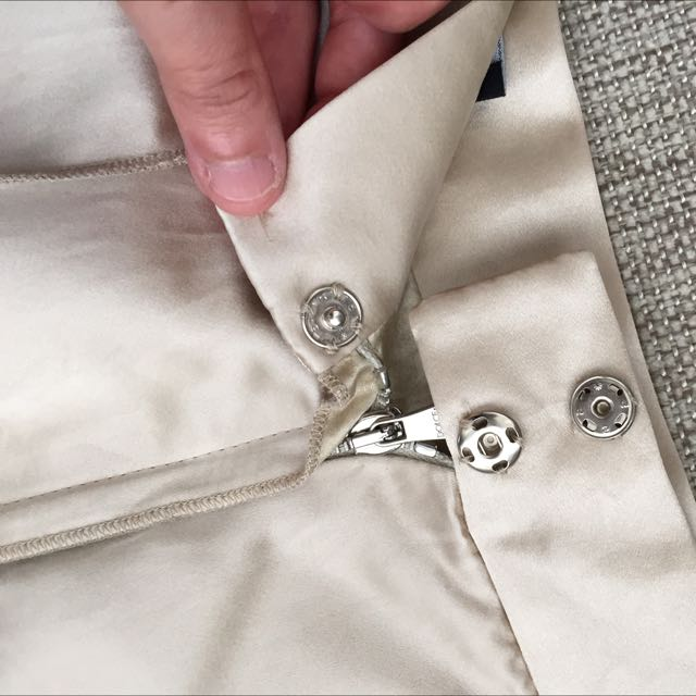 Price Reduced! D&G Elegant Champagne Coloured Silk Skirt (~90% Off Retail)
