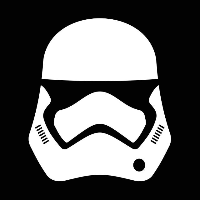 Fan Starwar Fun Decal Storm Trooper Logo 12cm