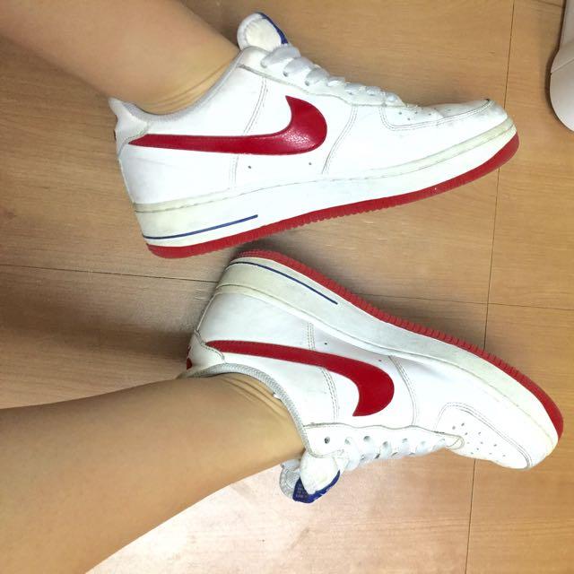 Nike Air Force 1 紅藍