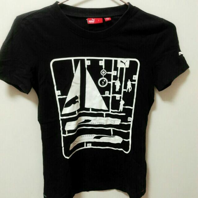Puma深藍t-shirt