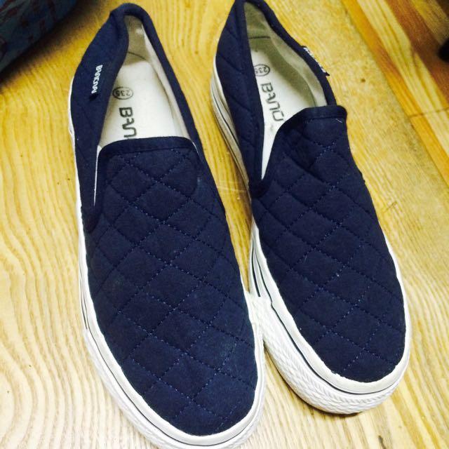 /Shoes/ 深藍厚底懶人鞋