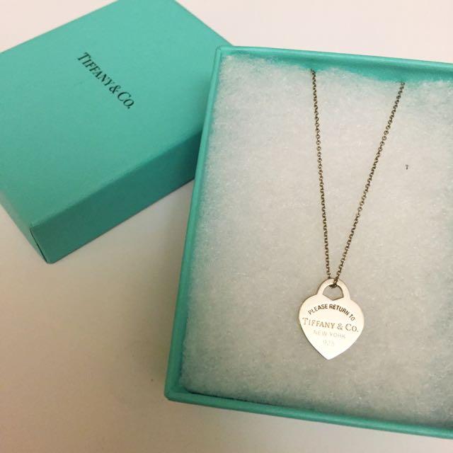 Tiffany&CO心型純銀項鍊