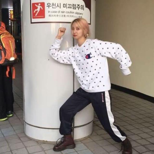 韓國ulzzang街頭風全身印花長袖上衣(林碩