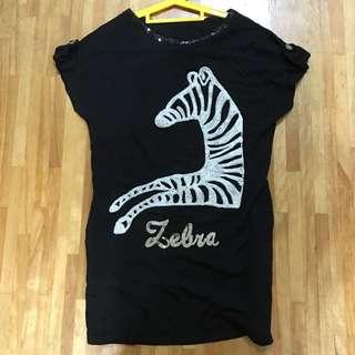 👯活動👯 Zebra斑馬短袖長版衣
