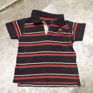 Baby Poney Brown Stripes Polo T-shirt