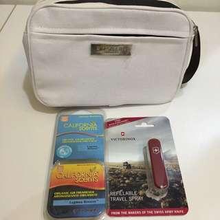 Bvlgari收納包 California 香氛鐵盒 Victorinox 瑞士刀香水 小香