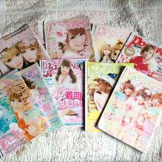 Popteen Magazine Gyaru Lolita Cosplay Kawaii Japanese