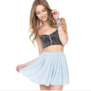 BNIP Brandy Melville Blue Luma Skirt