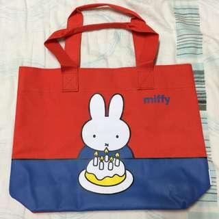 (全新)miffy 米飛兔 輕巧肩背袋
