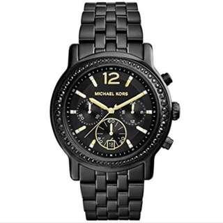 (新品出售) MICHAEL KORS Baisley 街頭巴黎黑金時尚腕錶 MK5984