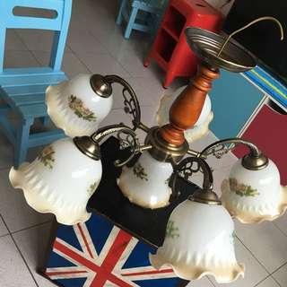 古典六燈燈具