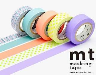 [分裝紙膠帶] mt 紙膠帶 GIFT BOX [PASTEL] 五色可選 MT05G003 一色1m