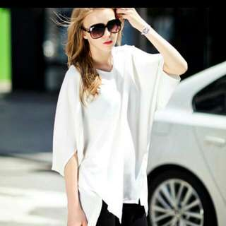 休閒雪紡白襯衫簡約大衣