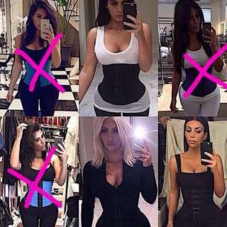 Kim Kardashian Latex Waist Training Corset Waist Trainer - Steel Boned (store ;Girly Curved)