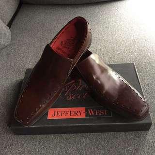 Jeffery West Dark Brown Dress Shoes (UK6)