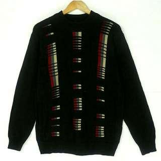 ☞grand grand復古VINTAGE古著毛衣☞黑立體鋼琴感設計B09