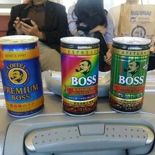BOSS全日限定版咖啡