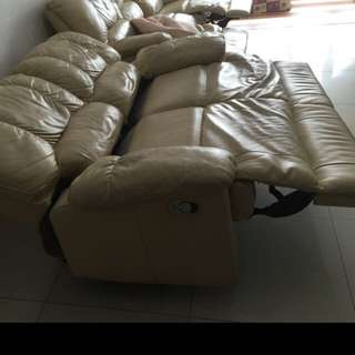 Full leather sofa - Recliner