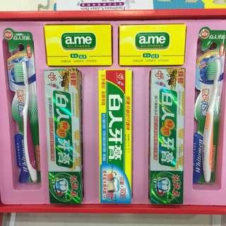 白人牙膏禮盒 (7件組)