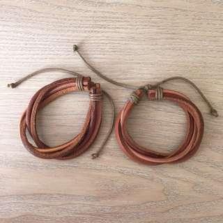 💯皮製手環日本帶回-含運