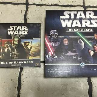 Star Wars: The Card Game (Core Set) & Edge Of Darkness Expansion