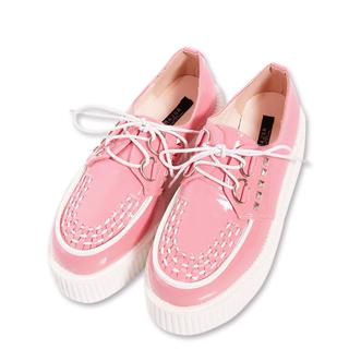 MJR 鉚釘彩色馬卡龍龐克鞋