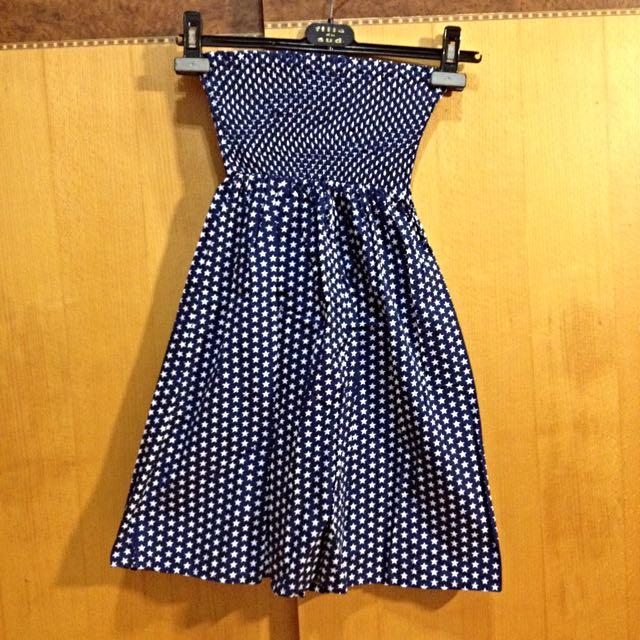 星星✨圖案平口小洋裝