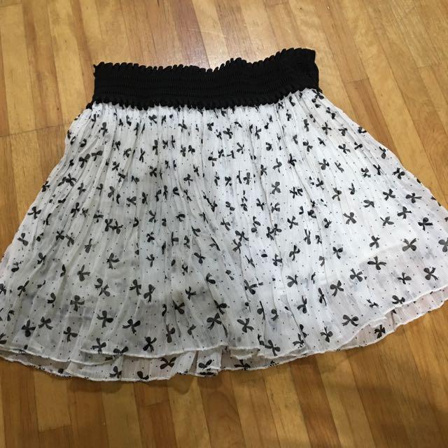 二手蝴蝶結短裙