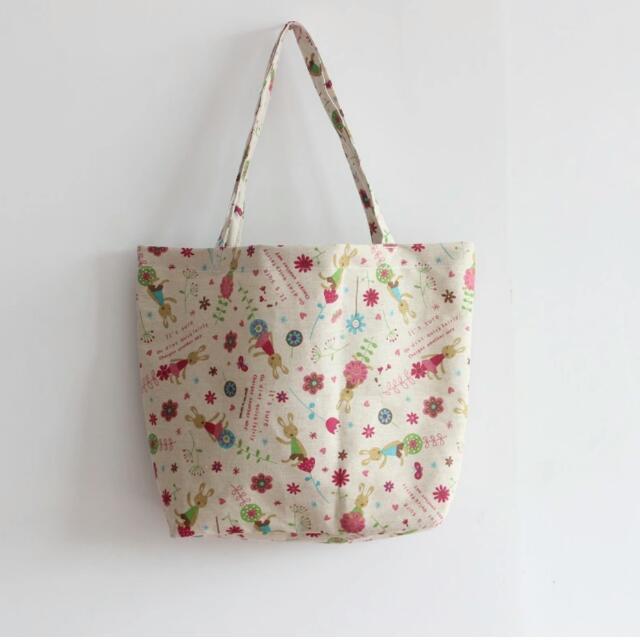 清新手工棉麻布包女包購物袋單肩包學生包