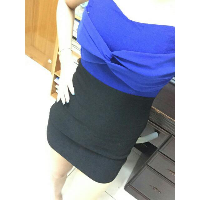 寶藍配色小禮服