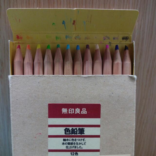✨免運✏無印良品色鉛筆✨ 無削過😱近全新👍全未削過