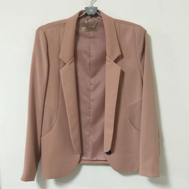 韓版合身西裝外套 女款