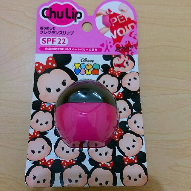 """(保留待匯款)日本藥妝""""Chu Lip""""SPF22護唇膏,迪士尼""""Tsum Tsum""""版"""