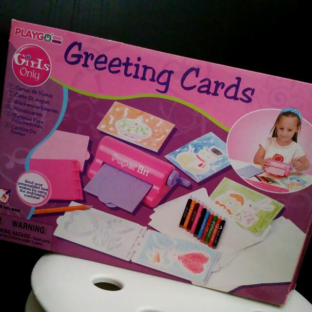 Princess Girl Greeting Card Diy Maker Machine Babies Kids On