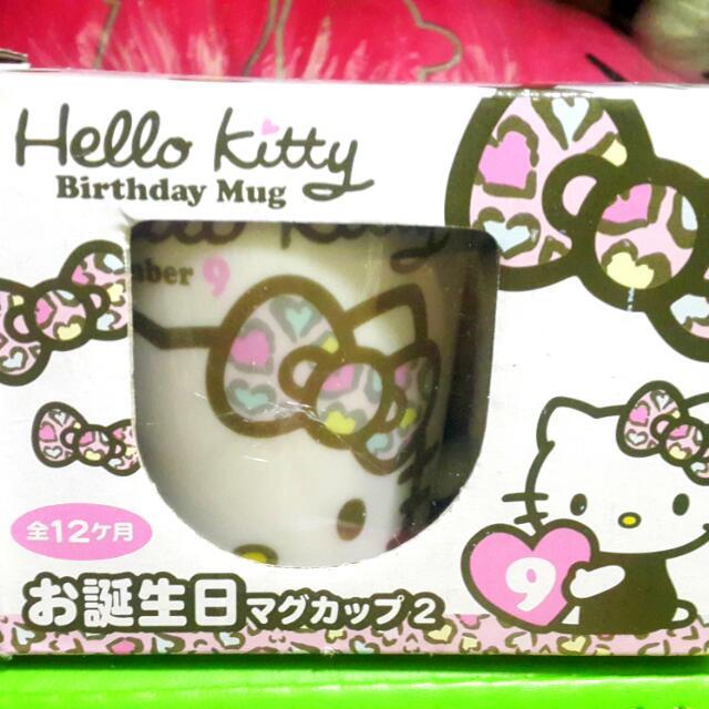 (全新)正版授權hello Kitty生日馬克杯2代#九月