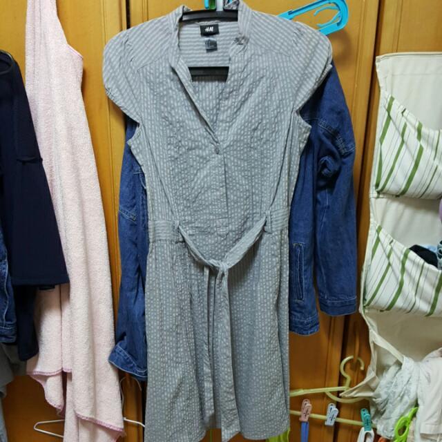 H&M 灰色洋裝