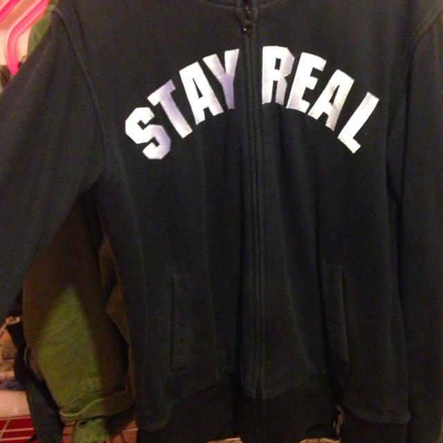 Stay Real黑色外套
