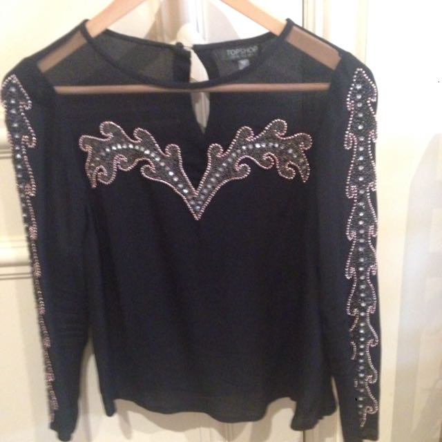 Top shop Beaded Top