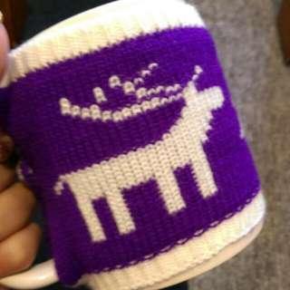 紫色毛衣秋冬麋鹿造型馬克杯 聖誕禮物
