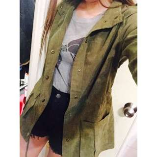 🔸軍綠風衣外套