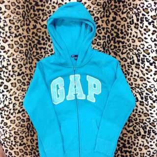 Gap (700元含運)藍綠色 連帽外套