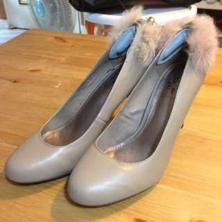 Daphne達芙妮 高跟鞋 膚色/裸膚色 婚鞋 23半