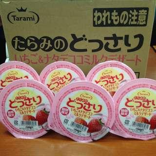 [期間限定]Tarami 達樂美果凍-草莓牛奶椰果(250g)