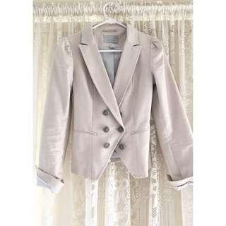 H&M Beige Button Up Blazer