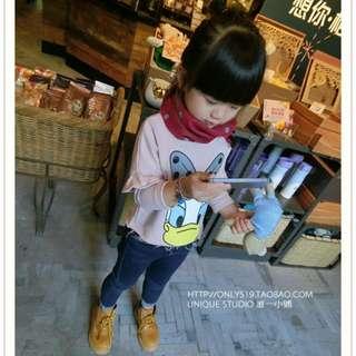 2015秋季新款韓版女童可愛卡通長袖上衣