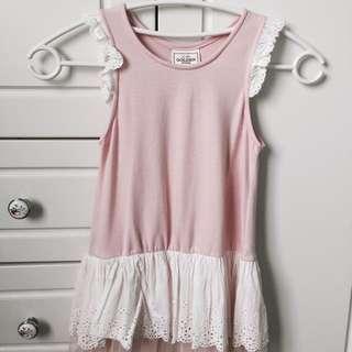 韓國女童內搭蕾絲洋裝13號